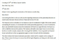Free 29+ Termination Letter Templates In Pdf   Ms Word for Franchise Agreement Termination Letter Sample