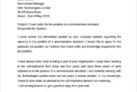 Free 7+ Sample Administrative Assistant Cover Letter in Administrative Assistant Cover Letter Template