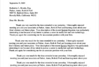 Free 7+ Sample Post Interview Thank You Letter Templates in Interview Thank You Letter Template
