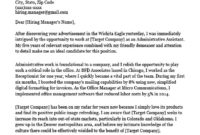 Free Cover Letter Samples And Writing Tips To Get The Job in Cover Letter Template For Administrative Assistant