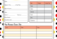 Free Disney World Itinerary Template | Calendar Template with regard to Fun Travel Itinerary Template