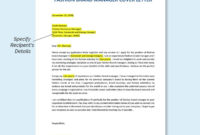 Free Fashion Brand Manager Cover Letter Template - Word inside Fashion Cover Letter Template