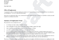 Free Job Offer Letter Template – Make Yours In 3 Steps Within Employment Offer Letter Template