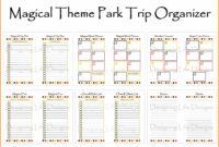Free Printable Disney Week Itinerary Template | Calendar pertaining to Disney World Itinerary Template