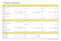 Free Printable Itinerary | Free Printable in Group Travel Itinerary Template