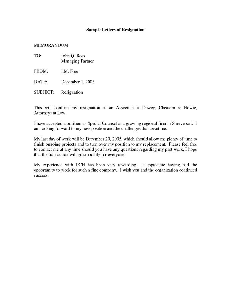 Free Printable Letter Of Resignation Form (Generic Within Generic Resignation Letter Template