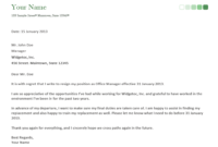 Free Printable Resignation Letter Form (Generic) With Regard To Generic Resignation Letter Template