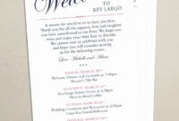 Free Wedding Accommodation Card Template Awesome Itinerary within Destination Wedding Weekend Itinerary Template
