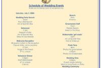 Free Wedding Reception Itinerary Template | Vincegray2014 throughout Wedding Reception Itinerary Template