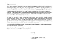 Fundraising Request For Donation Letter Template - Sample intended for Charitable Donation Letter Template