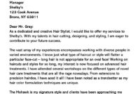 Hair Stylist Cover Letter (10+ Sample Letters & Email for Hair Stylist Cover Letter Template