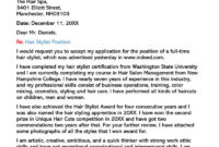 Hair Stylist Cover Letter (10+ Sample Letters & Email with Hair Stylist Cover Letter Template