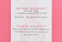 Hawaii Wedding Itinerary Cards Printed – Pineapple Wedding intended for Destination Wedding Weekend Itinerary Template