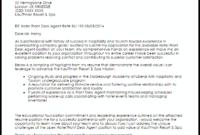 Hotel Front Desk Agent Cover Letter Sample | Cover Letter regarding Hospitality Cover Letter Template