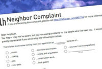 How Do I Write A Complaint Letter About A Noisy Neighbor throughout Neighbour Dispute Letter Template