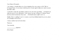 Internship Resignation Letter Samples & Templates Download pertaining to Auditor Resignation Letter Template