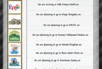Itinerary   Disney Scrapbook Pages, Disney Scrapbook in Disney World Itinerary Template