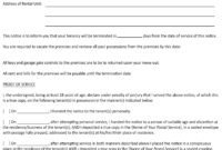 Lease Termination Letter To Tenant Template Collection for Giving Notice To Tenants Letter Template