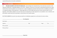 Letter Of Confidentiality And Nondisclosure Template intended for Confidential Cover Letter Template