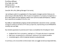 Letter Of Recommendation Sample For Property Manager throughout Case Manager Cover Letter Template