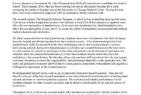 Medical School Recommendation Letter Samples Inspirational throughout Medical School Recommendation Letter Template