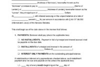 Nevada Unsecured Promissory Note Template – Promissory pertaining to Demand Letter Promissory Note Template
