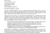 Nurse Case Manager Cover Letter Sample | Resume Companion within Case Manager Cover Letter Template