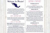 Pin On Example Wedding Template Program regarding Honeymoon Itinerary Template