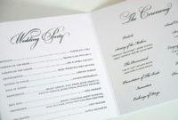 Pincindy Heidmann On Weddings   Wedding Programs pertaining to Wedding Ceremony Itinerary Template