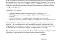 Printable Best Administrative Assistant Cover Letter regarding Administrative Assistant Cover Letter Template