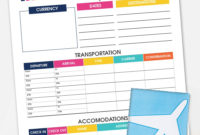 Printable Travel Itinerary Planner | Free Printable regarding Vacation Itinerary Planner Template