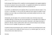 Restaurant Complaint Letter Response Template Free regarding Grievance Response Letter Template