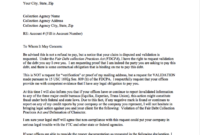 Sample Debt Validation Letter   Credit Repair Letters throughout Debt Repayment Letter Template