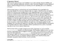 Sample Franchise Agreement - Attorney Docs throughout Franchise Agreement Letter Sample