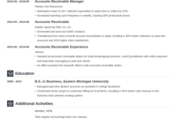 Sample Resume For Accounts Receivable Collections For Home with Accounts Receivable Collection Letter Template