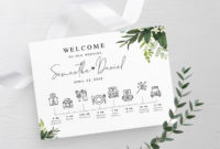 Timeline Template Fully Editable Schedule Of Events inside Bridal Shower Itinerary Template