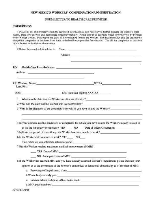 Top 16 Workers Compensation Claim Form Templates Free To Within Compensation Claim Letter Template