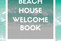 Ultimate Vacation Rental Welcome Book Template 20 Pages with Apartment Welcome Letter Template