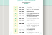 Vacation Itinerary Planner Template #Ad, , #Affiliate, # throughout Vacation Itinerary Planner Template