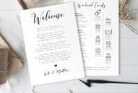 Wedding Day Itinerary Template, Welcome Letter, 100% with regard to Wedding Welcome Itinerary Template
