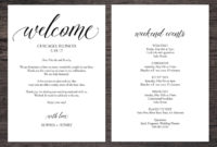 Wedding Itinerary Template Wedding Itinerary Pdf Template throughout Honeymoon Itinerary Template
