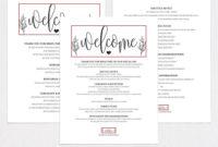 Wedding Itinerary Wpc326Weddingprintablesco On for Honeymoon Itinerary Template