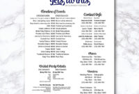 Wedding Timeline Checklist Wedding Party Printable Wedding for Bridal Shower Itinerary Template