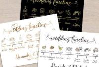 Wedding Timeline Printable Sign Card Program Template inside Honeymoon Itinerary Template