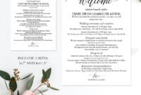Wedding Weekend Itinerary Template, C6 within Bridal Shower Itinerary Template