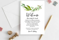 Wedding Weekend Itinerary Template Welcome Bag Tag Note | Etsy inside Wedding Welcome Bag Itinerary Template