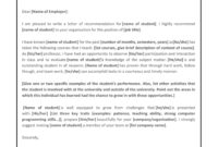 Writing A Letter Of Recommendation For A Medical Student pertaining to Medical School Recommendation Letter Template
